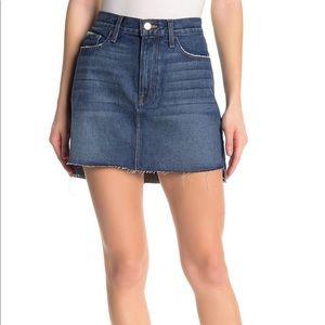 FRAME Denim Raw Hem Mini Skirt